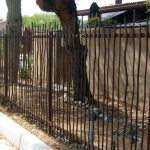 Ornamental metal fence