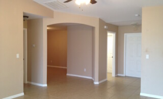 Interior drywall painted