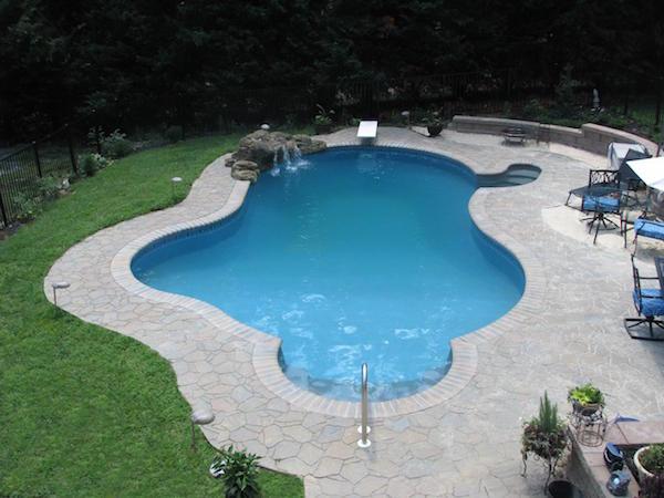 Outdoor inground pool