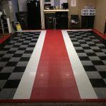 Checkered rubber flooring
