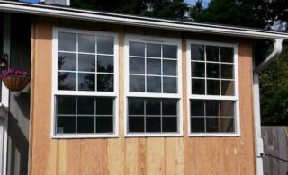 Caulked windows