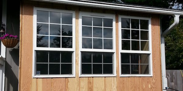 Caulked windows