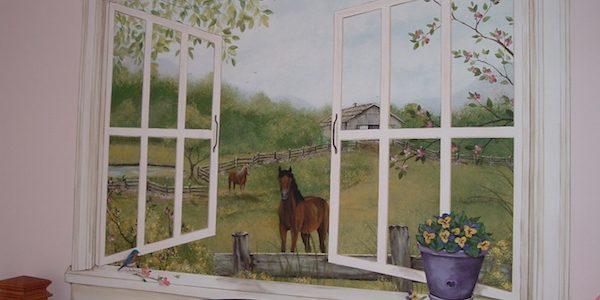 Kids' room faux window