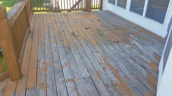 Rotting deck