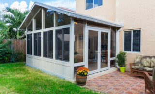 Sunroom with gable roof