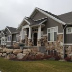 Home with partial stone siding
