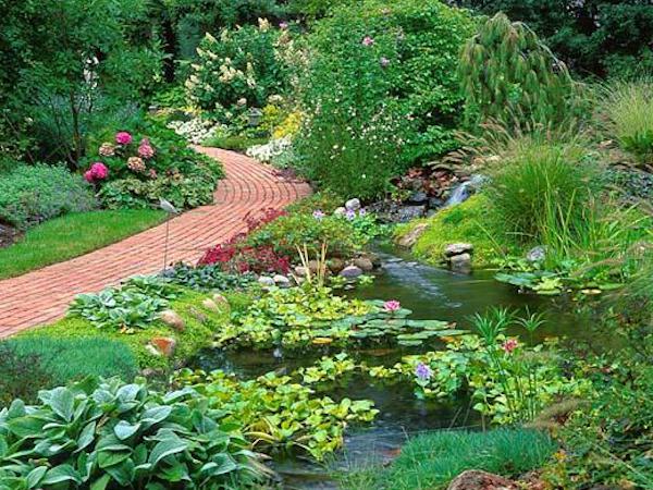 Garden pond garden waterfall liners design installation for Fiberglass garden ponds