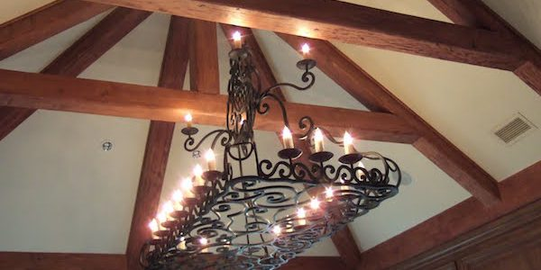 Wrought iron chandelier antiques design materials cost wrought iron chandelier aloadofball Gallery