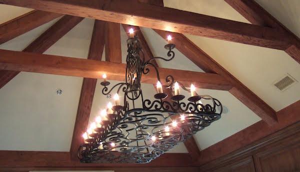 wrought iron chandelier - Wrought Iron Chandelier