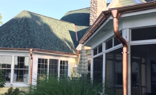 Copper gutters