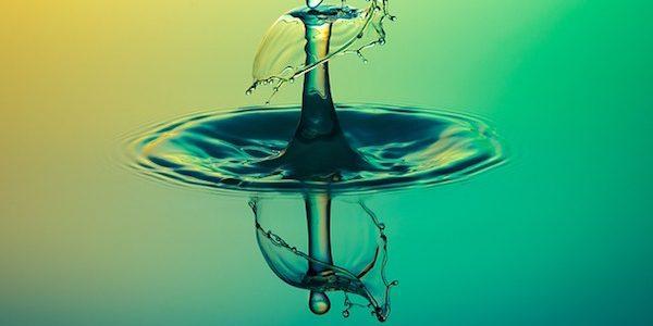 Purified water drop