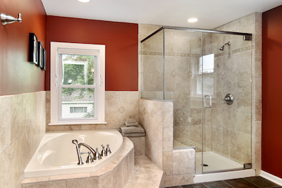 natural stone tile shower