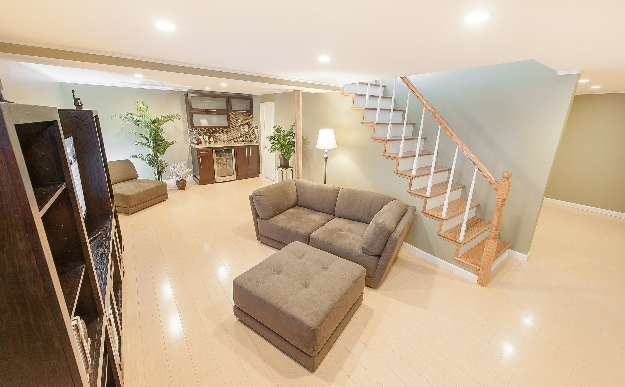 Laminate Flooring For Basement a basement gym and workout room with a wood laminate flooring installed in nelson Basement Condensation Smart Choices For Basement Flooring
