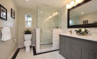 Remodeled shower area