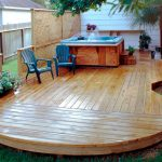 Wood Deck With Spa