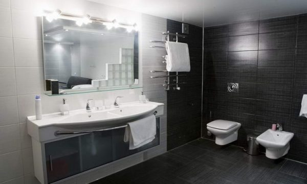Bathroom with bidet toilet