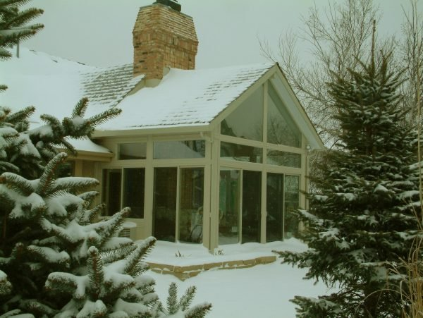 Chimney in snow