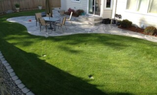 Yard with french drain