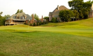 Putting Green on Golf Course near Luxury Homes