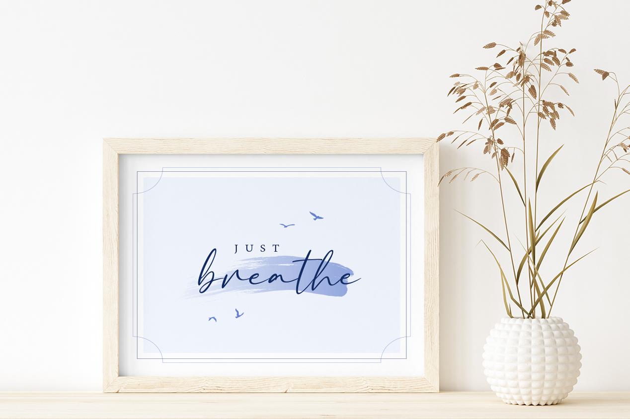 breath wall art framed