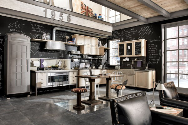 Black & tan kitchen
