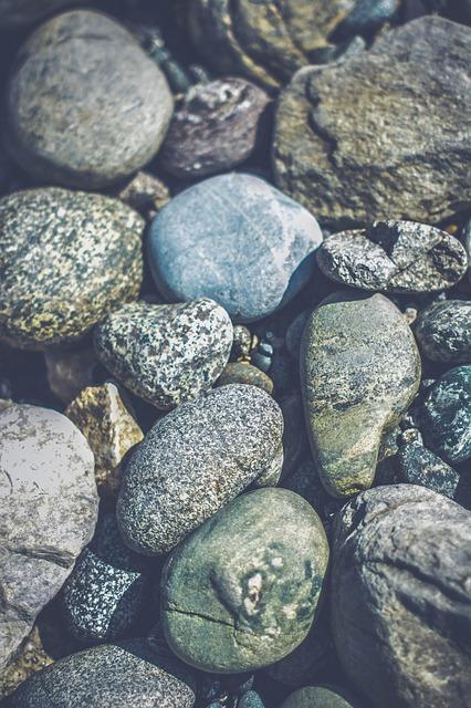 Bed of rocks