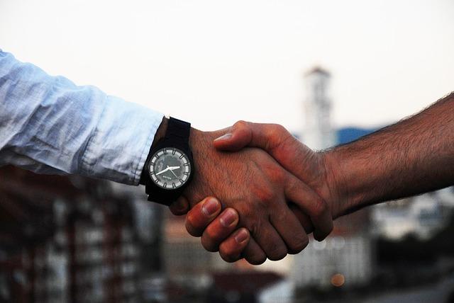 Agreement handshake