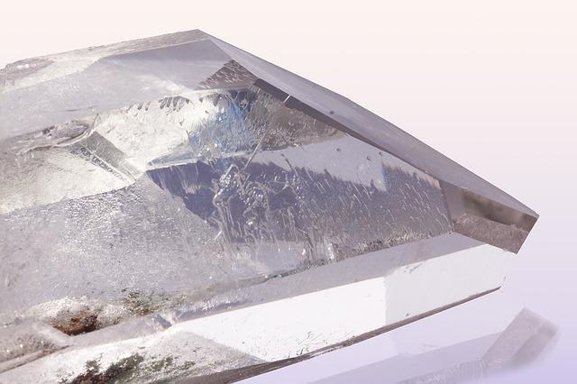 clear piece of pure quartz