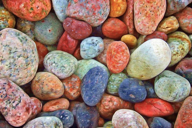 colorful pile of stones
