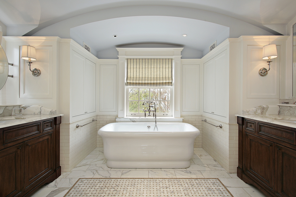 A contemporary bathroom remodel.