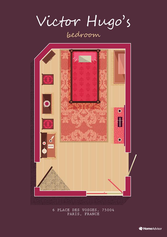 victor hugo bedroom illustration