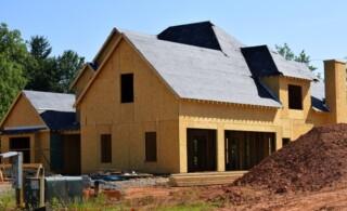 Custom built home in progress