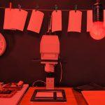 Darkroom in red light