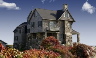 Old house on a cliff