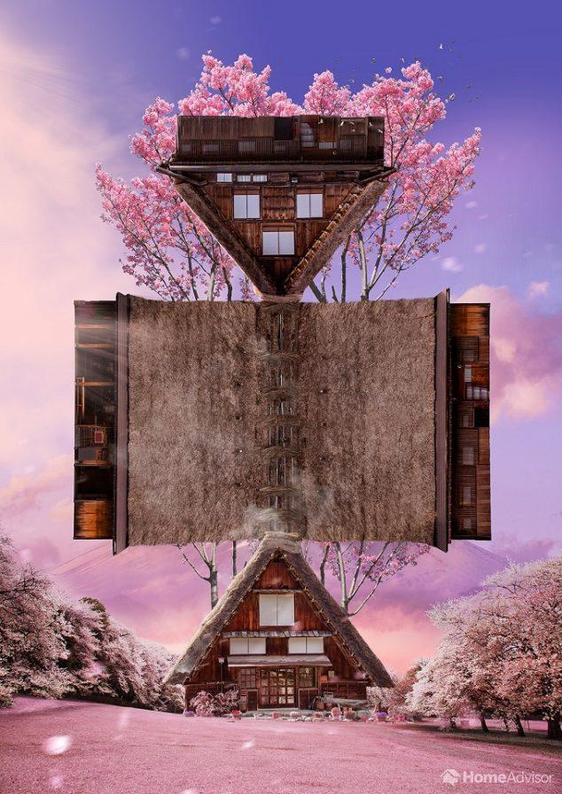 paper model of minka japan house