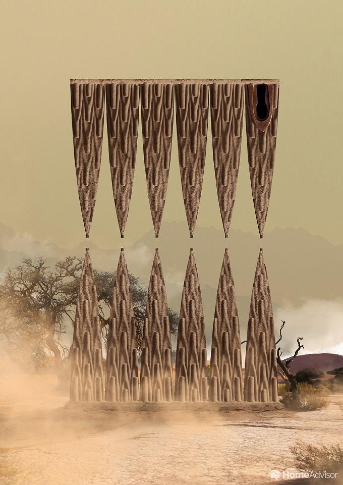 3d paper model mud hut