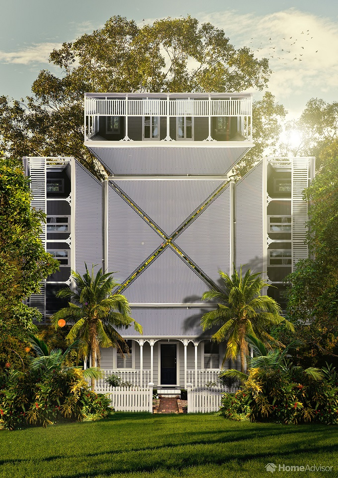 3d queenslander home model
