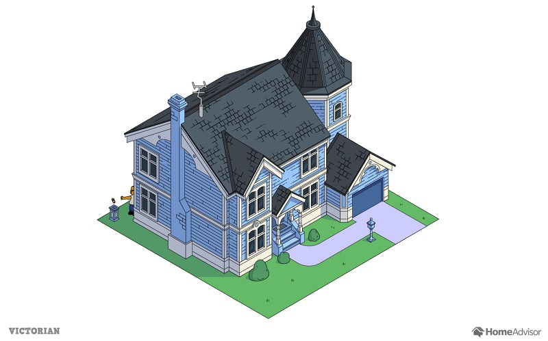 the simpsons house as a victorian