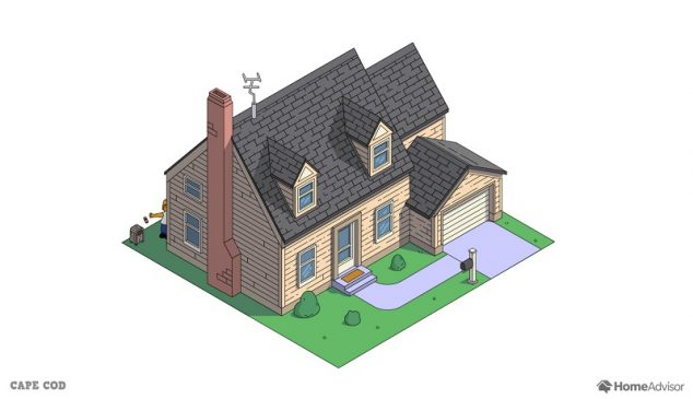 the simpsons home as a cape cod