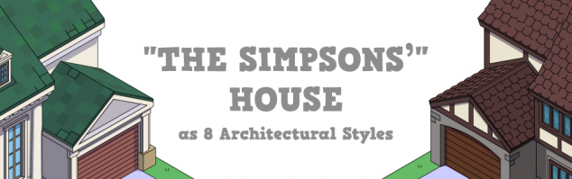 The Simpsons House in 8 architectural styles