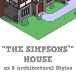 Reimagining The Simpsons' Home in 8 Popular Architectural Styles