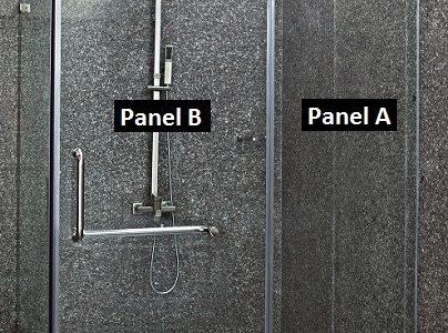 fixed glass shower door