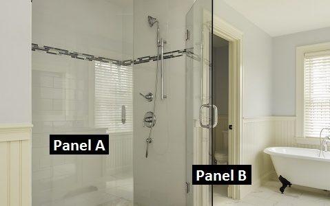 hinged glass shower door