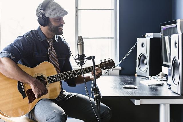 Home Recording Artist in Studio