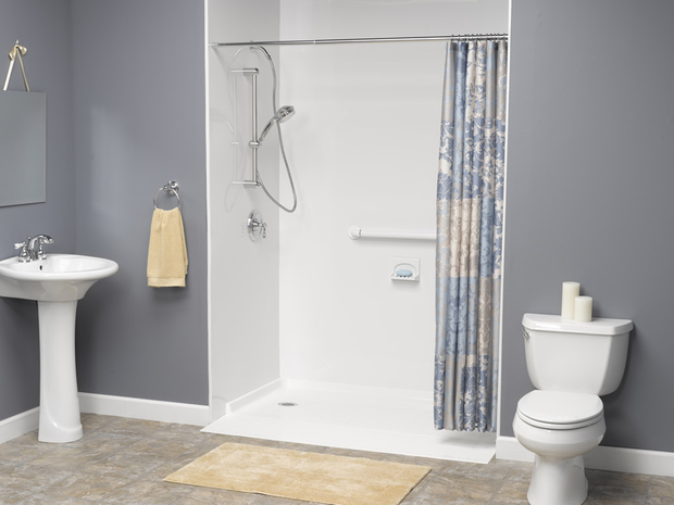 Bathroom modified for disability access