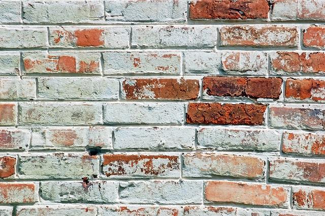 Limewashed old looking brick wall