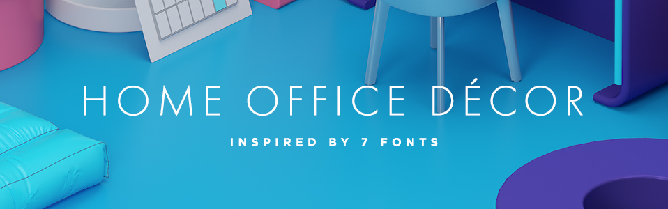home office inspired by fonts