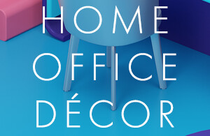 Home office decor inspired by fonts