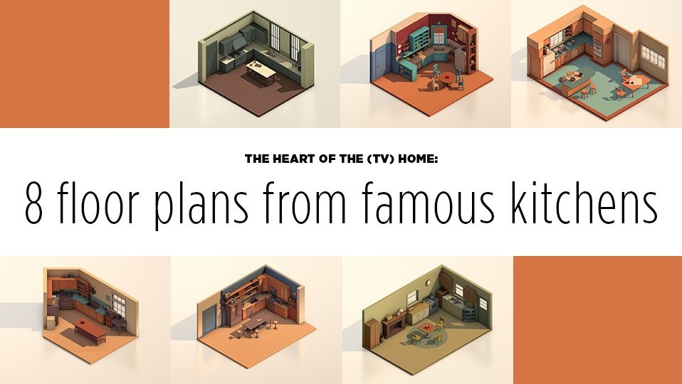 8 floor plans from famous TV kitchens