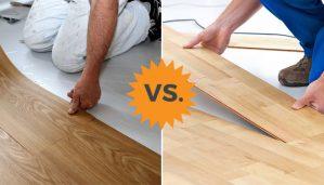 vinyl flooring or laminate